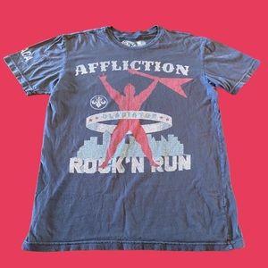 Affliction Shirt Men Large Gladiator